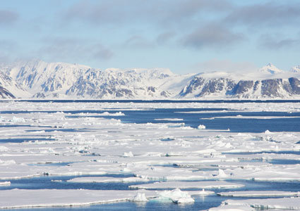 Sea ice, northwestern Spitsbergen, Svalbard. Photo: Eva Therese Jenssen/UNIS