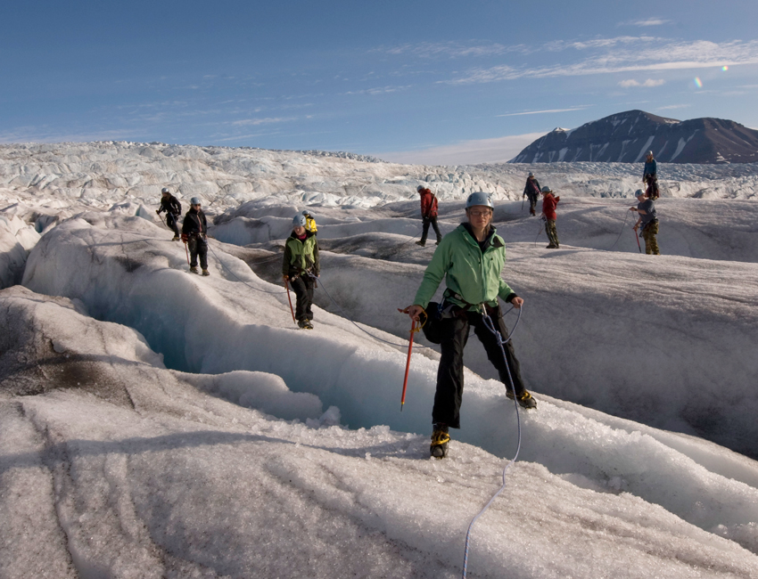 Students on Nordenskiöldbreen