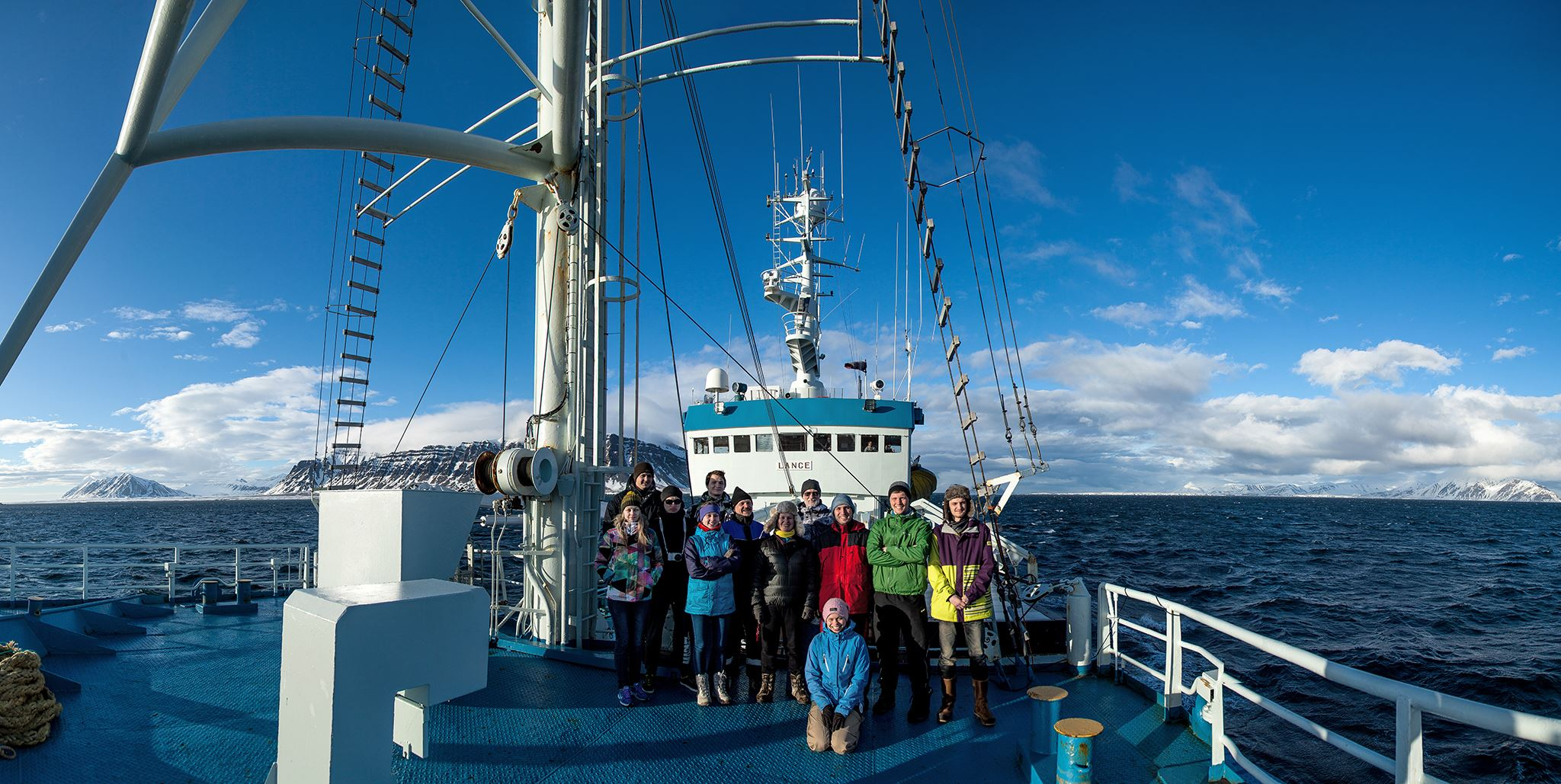 UNIS students on board R/V Lance, 2016. Photo: Evgenii Salganik