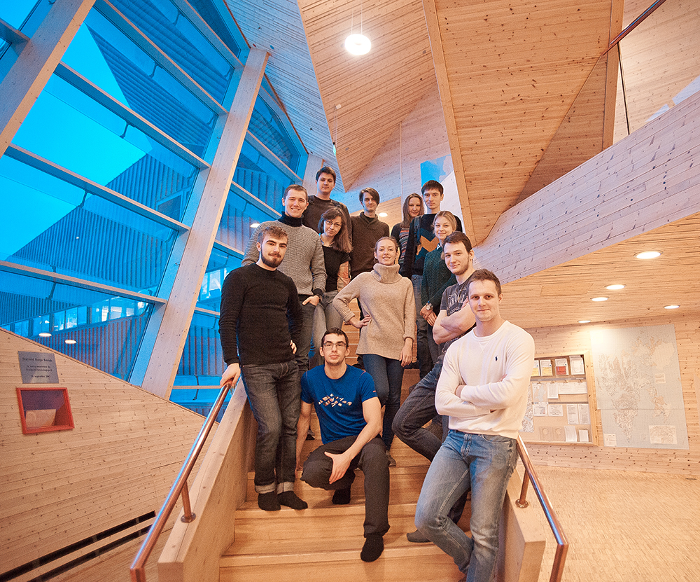 Russian UNIS technology students, spring 2016