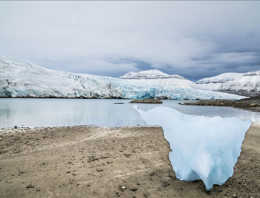 What happened to the glacier?