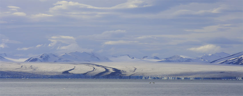 Nathorstbreen, Spitsbergen, Svalbard. Photo: Eva Therese Jenssen/UNIS.