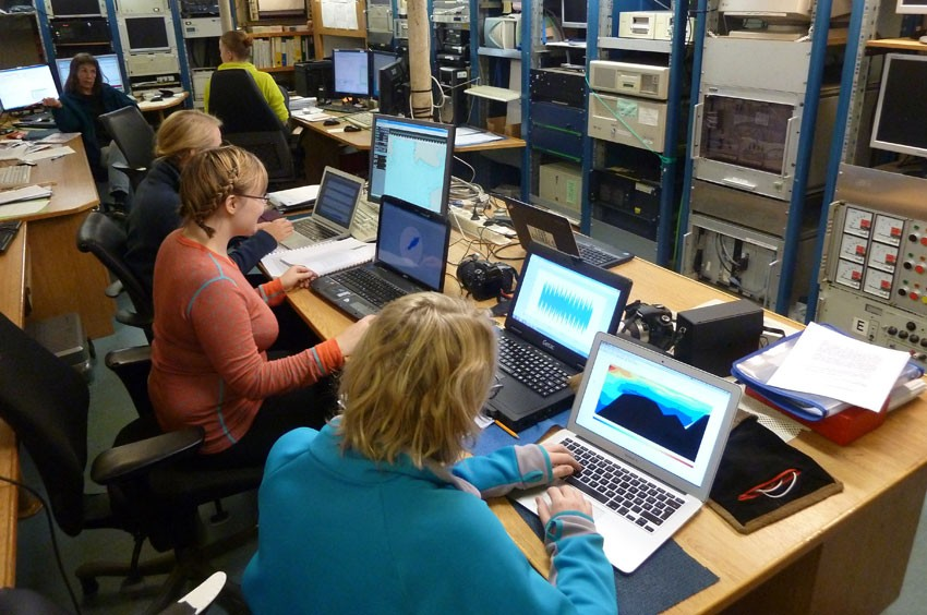 Analysing data onboard RV Håkon Mosby