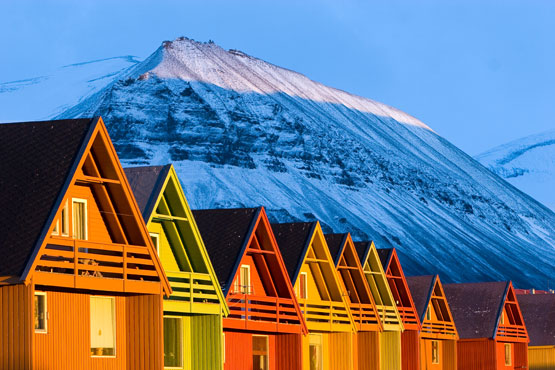 Longyearbyen houses. Photo: Thor Inge Vollan/UNIS