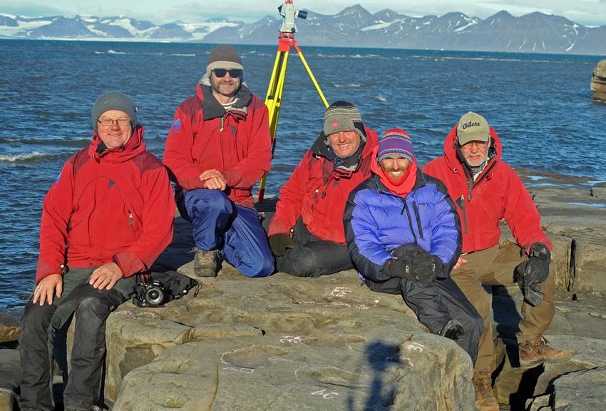Hans Arne Nakrem, Øyvind Hammer, Jørn Hurum, Patrick Druckenmiller and Snorre Olaussen.