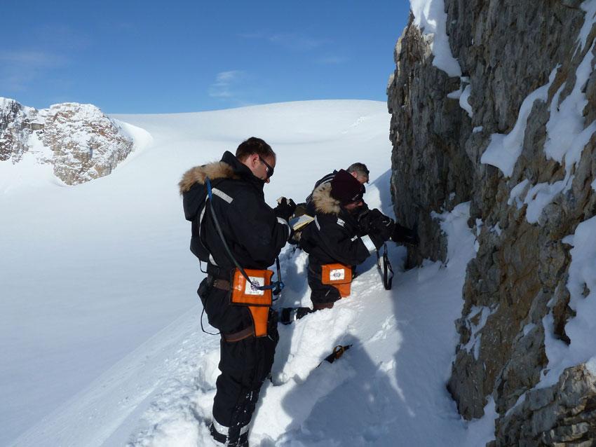 Fieldwork in northeastern Spitsberegn. Photo: Doug Benn/UNIS