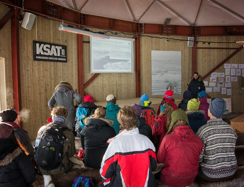 Lecture at Svalbard Satellite Station