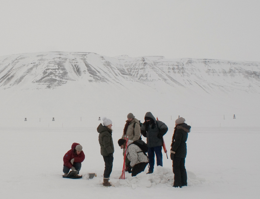 Students in Adventdalen