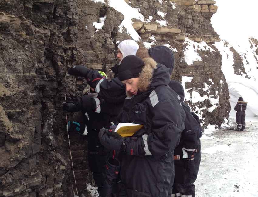 Geology fieldwork in Svalbard