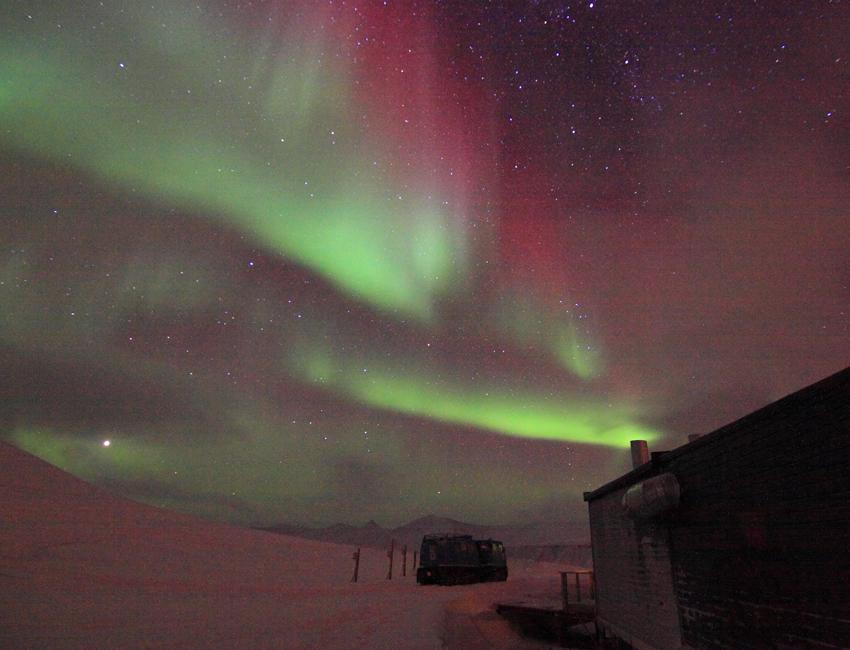 Aurora over Kjell Henriksen Observatory