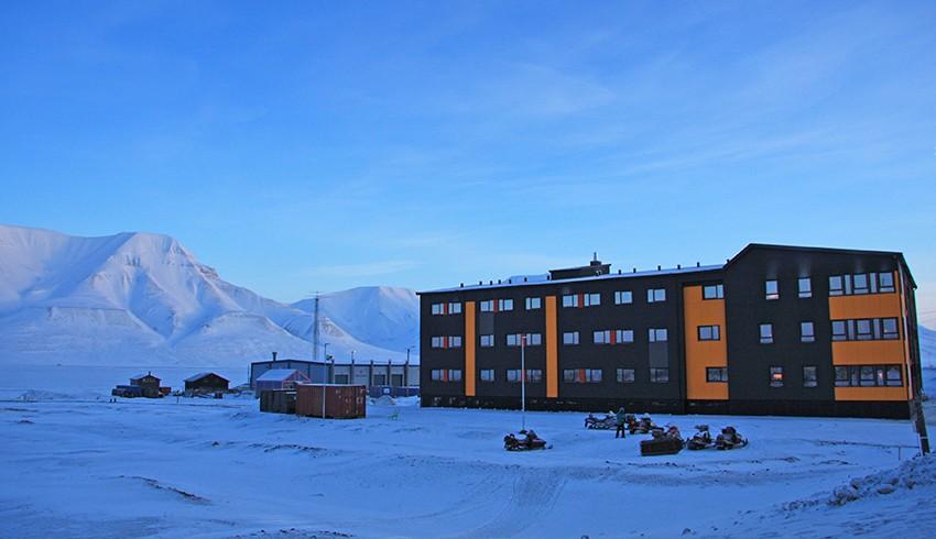 Sjøskrenten student hostel in Longyearbyen.