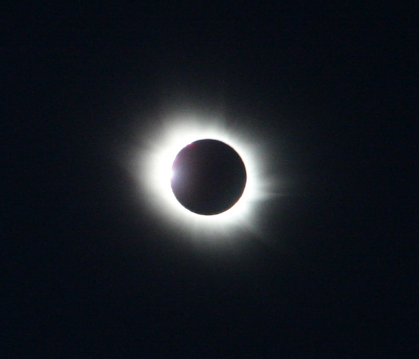 Total solar eclipse in Svalbard