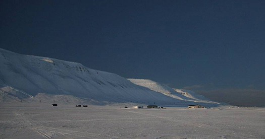 Adventdalen before the total solar eclipse in Svalbard 20 March 2015.