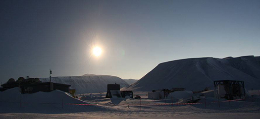 End of total solar eclipse in Svalbard 20 March 2015.