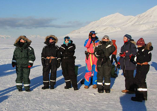 UNIS staff before the total solar eclipse in Svalbard 20 March 2015.