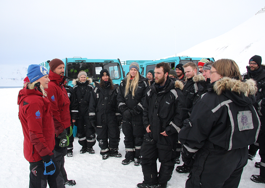 Royal visit at Longyearbreen April 2015.