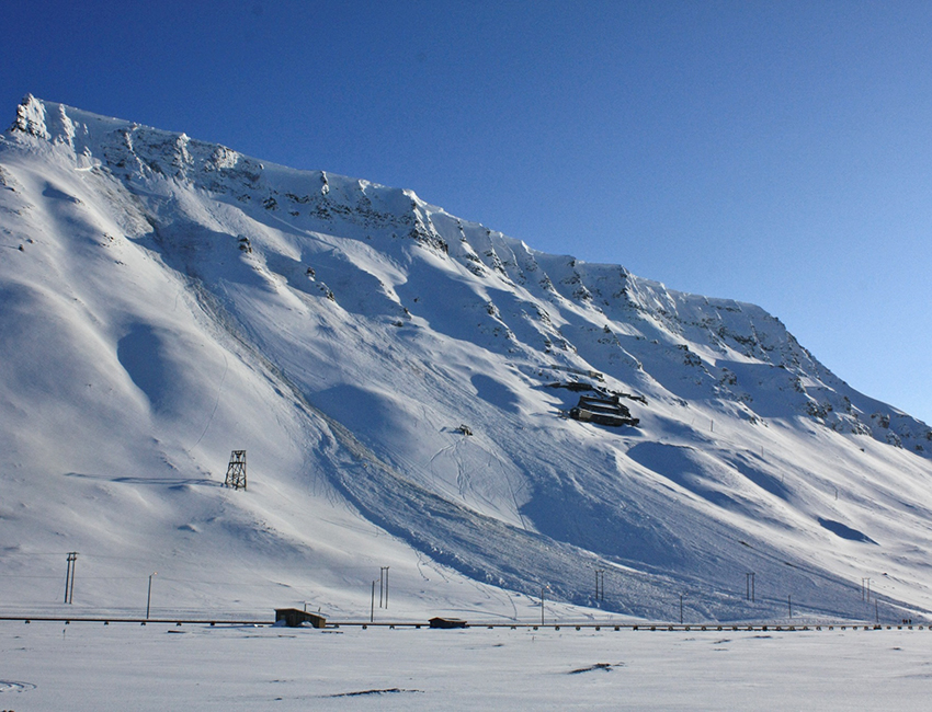 Snow avalanches in Longyearbyen