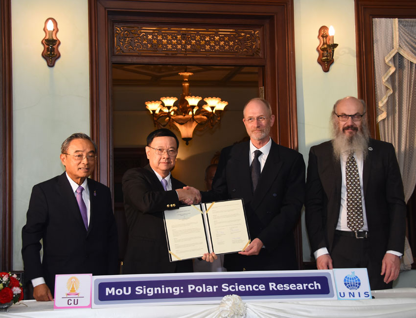 Memorandum of Understanding between UNIS and Chulalongkorn University