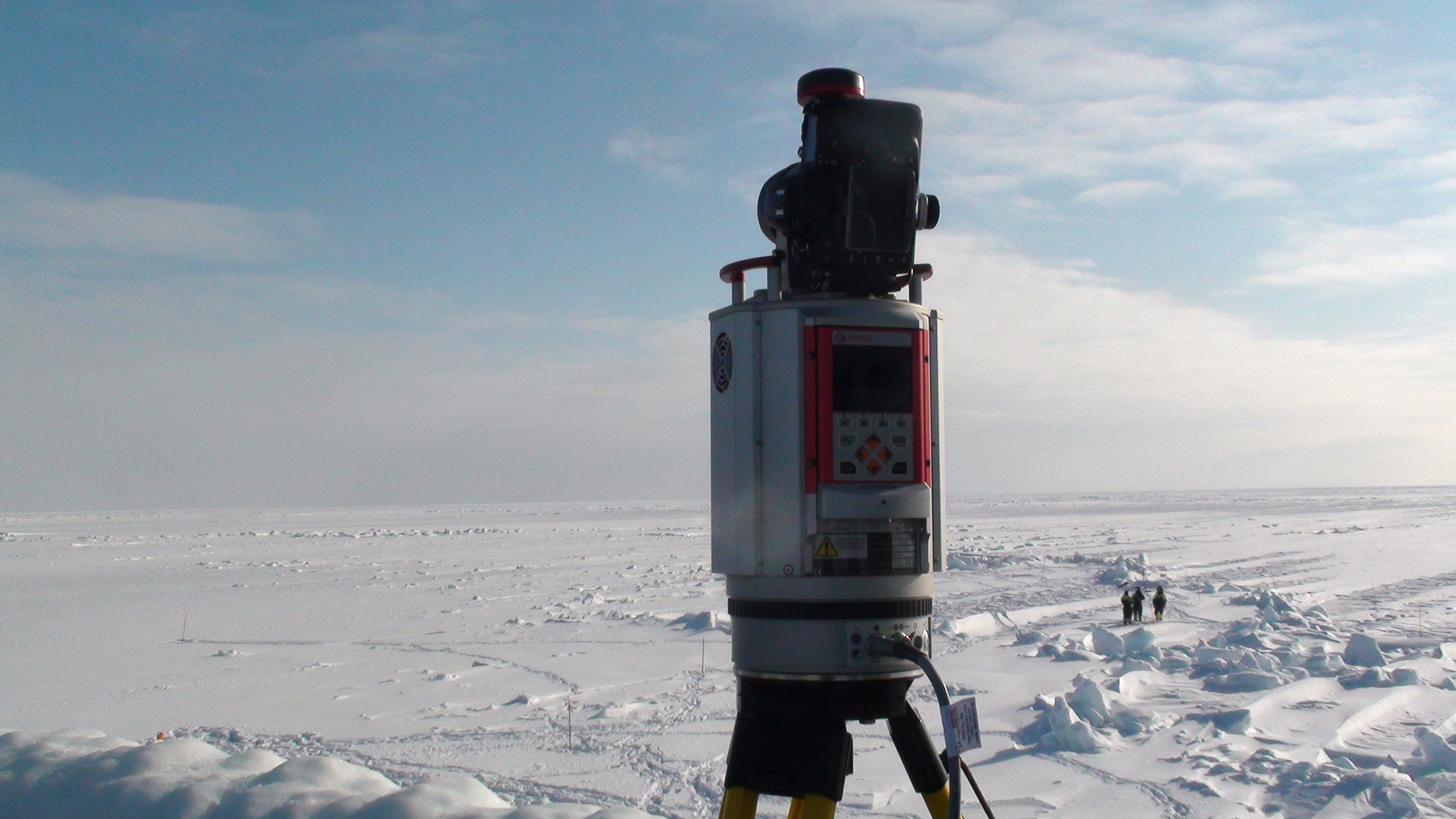 Laser scanning of ice ridges in Svalbard.