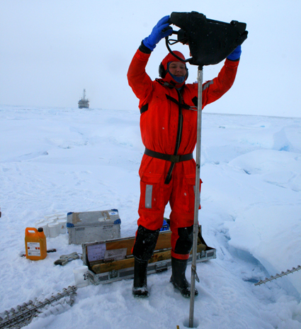Measuring sea ice