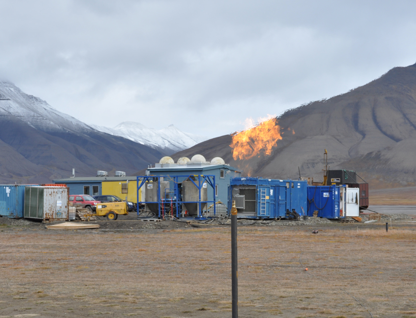 Gas flow at the CO2 Lab site