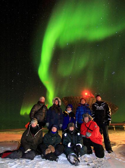 Aurora, Eiscat radar facility, Svalbard