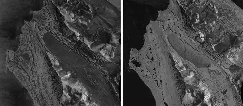 Satellite image, Kapp Linné, Svalbard