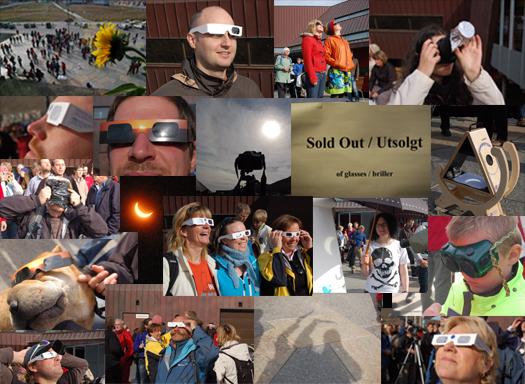 Solar eclipse collage