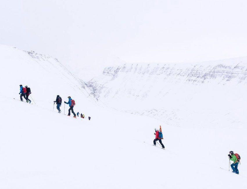 Skking in Svalbard