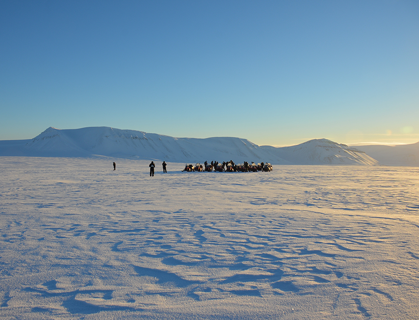 Glaciology students on field trip