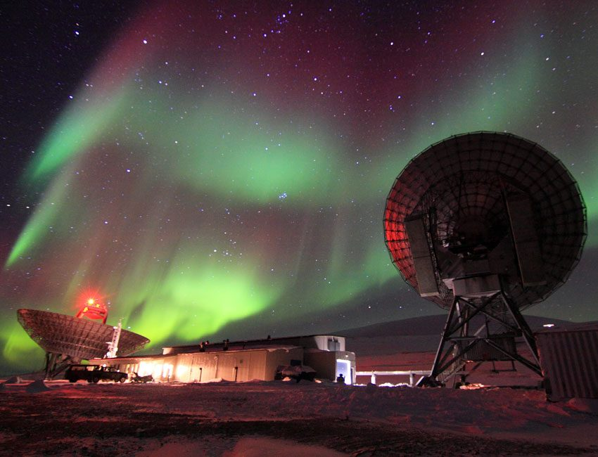 Northern lights over Eiscat