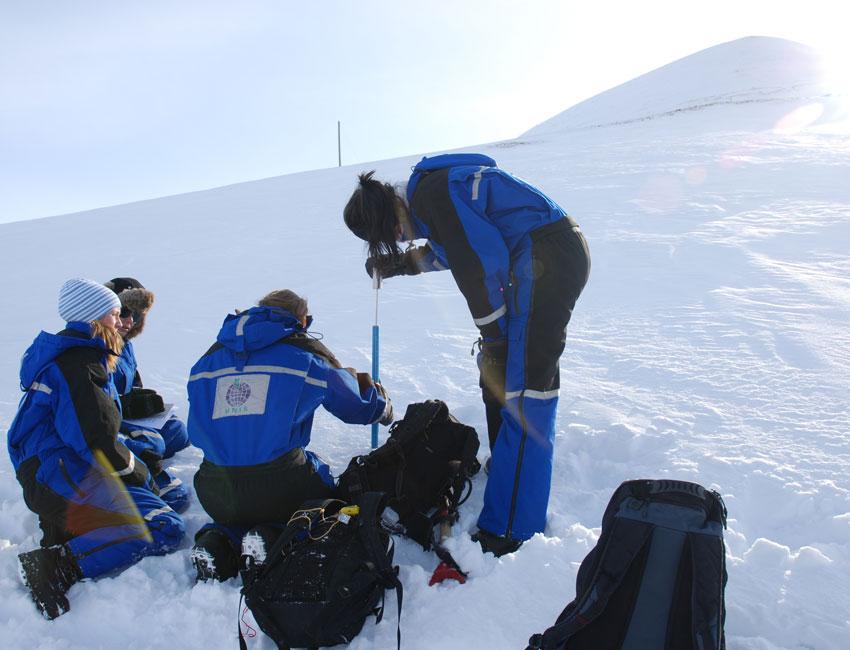 Fieldwork in Lia Longyearbyen Svalbard
