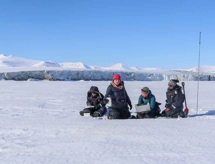 Fieldwork in Mohnbukta Svalbard