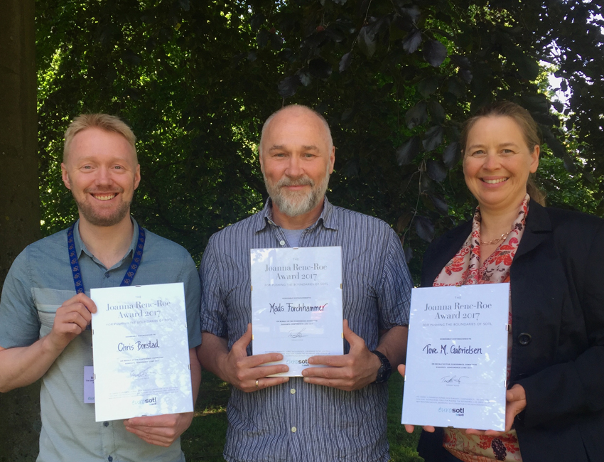 Featured image for 'UNIS teachers awarded the The Joanna Renc-Roe Award'
