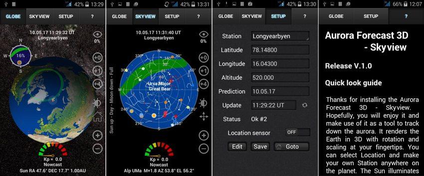 Aurora forecast 3D app