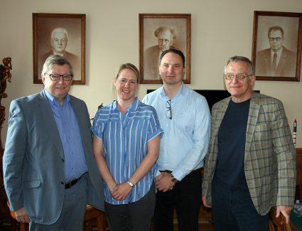 Prof. Panasyuk, Assoc. Prof. Baddeley, Prof. Lorentzen and Prof. Pilipenko