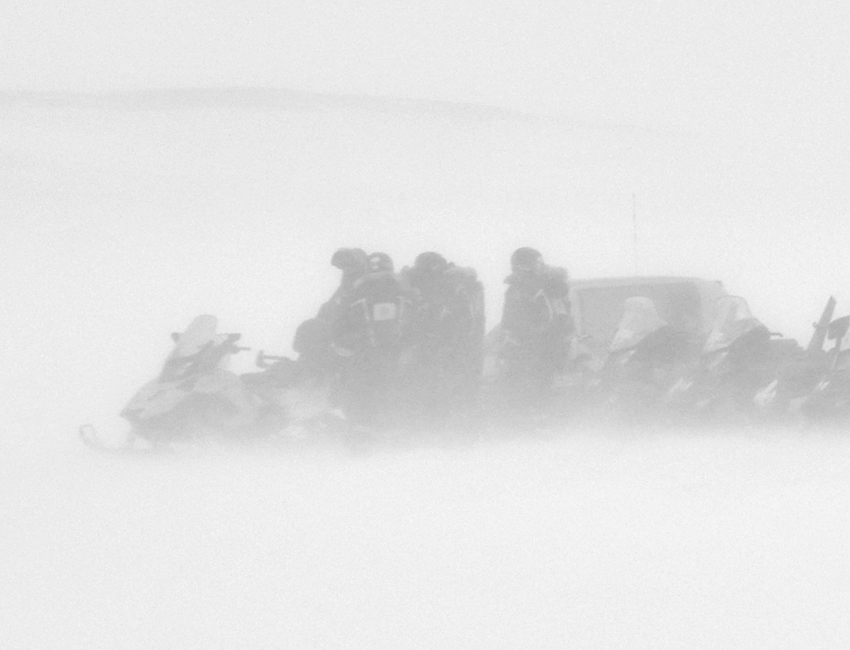 Snowmobile excursion in Svalbard, March 2012. Photo: Jacob Abermann/UNIS