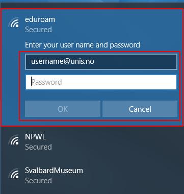 Eduroam configuration for Windows 10 - UNIS