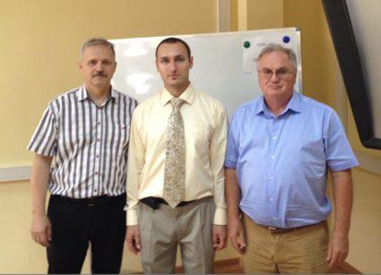 Aleksey Machenko, Andrii Murdza and Vladimir Zhmur