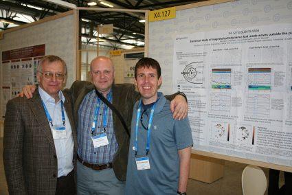 Prof. Vyacheslav Pilipenko (IPE), Dr. Dmitri Klimushkin (Inst. Of Solar Terrestrial Research, Irkusk, Russia), Michael Hartinger (Virginia Tech, USA).
