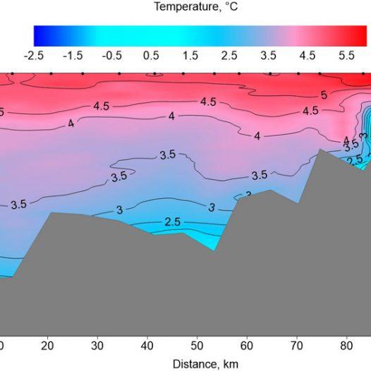 We measure the temperature of Isfjorden