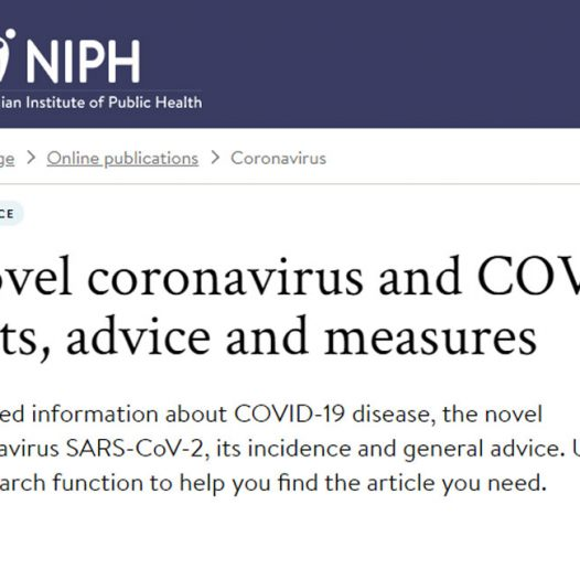 Advice and information about the coronavirus