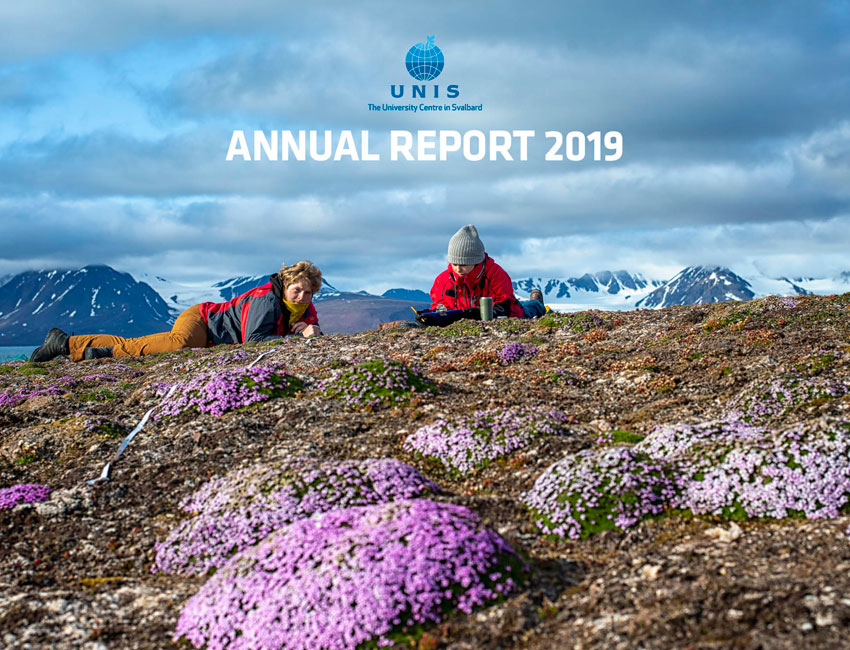 UNIS annual report 2019 frontpage. Photo: Mads Forchhammer/UNIS.