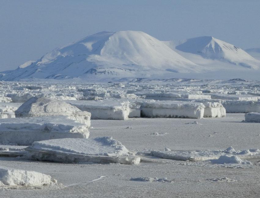 Sea ice in Svalbard. Photo: Janne Søreide/UNIS.