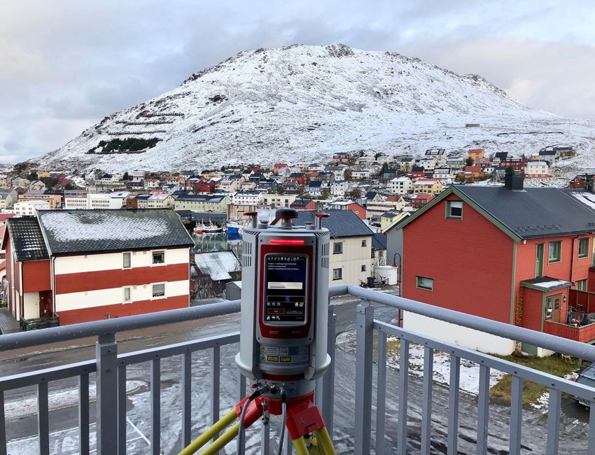 Using a laser scanning in Honningsvåg