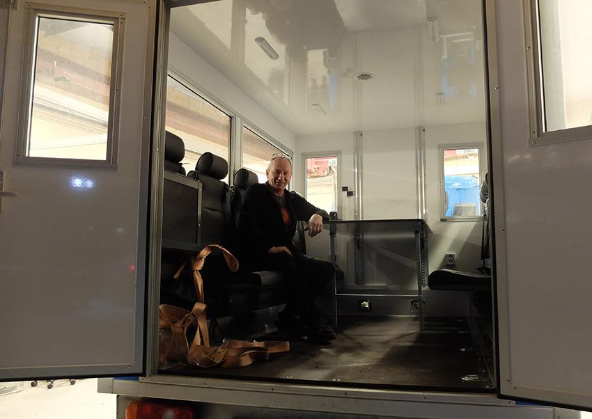 The passenger cabin of the new UNIS belt wagon