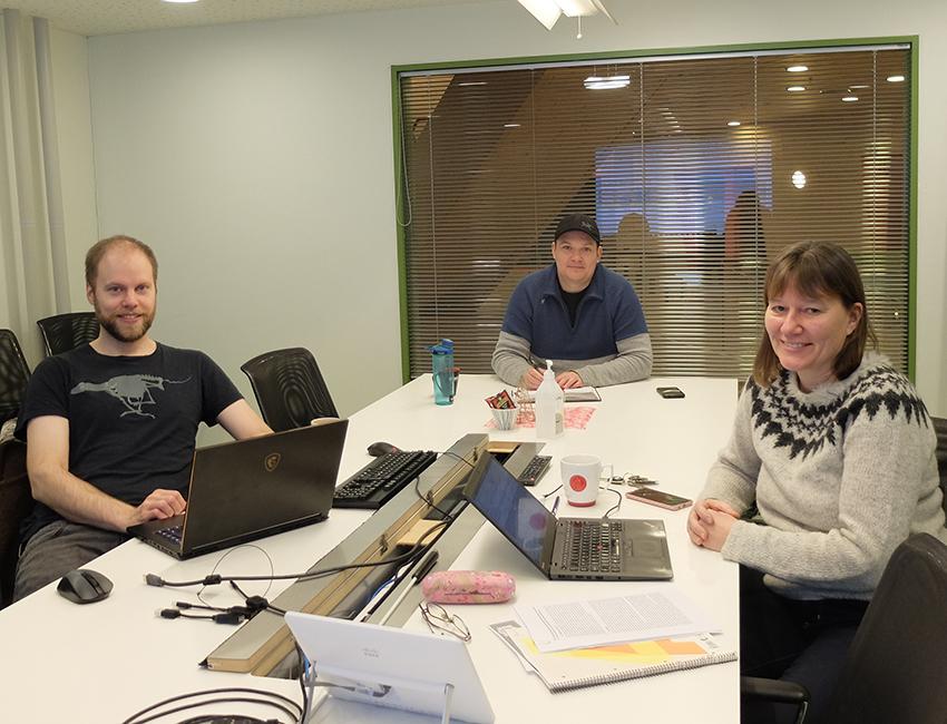 From left Marius Jonassen, Aleksey Shestov and Hanne Christiansen at UNIS.