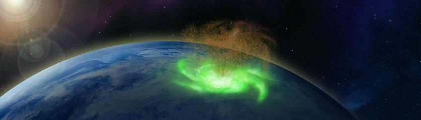 Space hurricane illustration