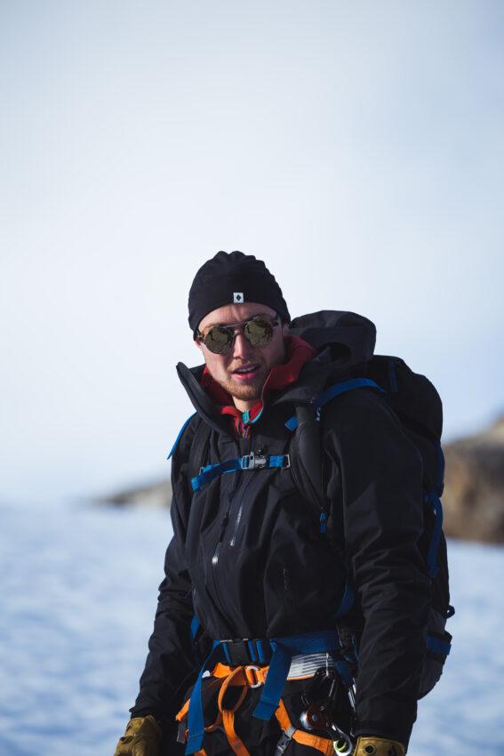 Jonas Haass in the mountains.