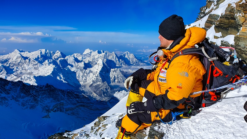 Thomas Lone at South Summit, Mount Everest